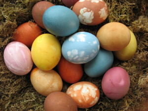 Easter Eggs using natural dyes and Gemperle Egg Farm