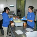 Modesto Staff Making Egg Sandwiches